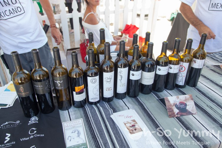 Wine samples at Latin Food Fest San Diego