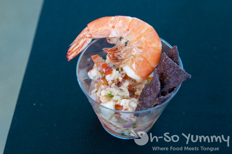 shrimp ceviche at Latin Food Fest San Diego