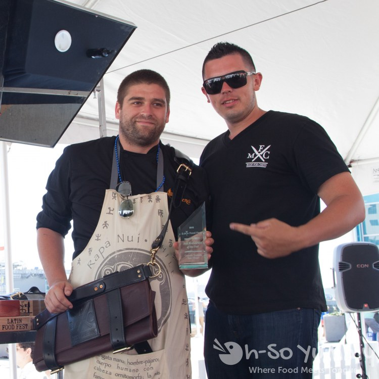 Chef Jaime Chavez (Sirena) wins Best Restaurant at Latin Food Fest San Diego