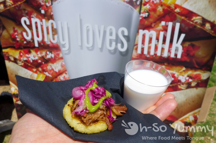 spicy loves milk campaign at latin food fest