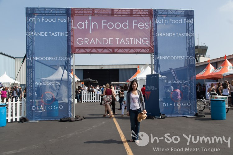 Latin Food Fest 2015 in Los Angeles Hangar 8 entrance