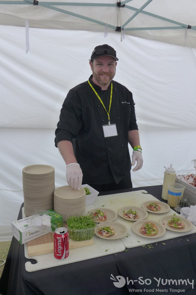 chef kevin bryan of spike africa's at lemon zest and garlic festival 2015