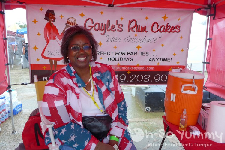 gayle's rum cakes at lemon zest and garlic festival 2015