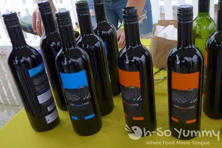 red wines at lemon zest and garlic festival 2015
