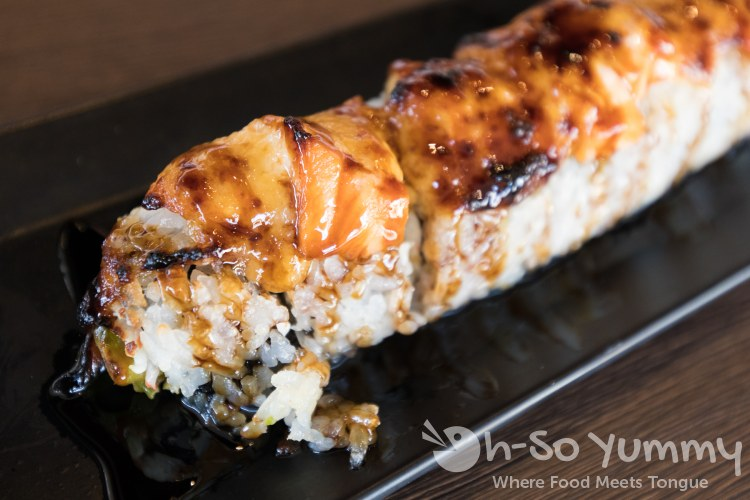 Samurai Baked Roll at Little Sakana in Mira Mesa mall