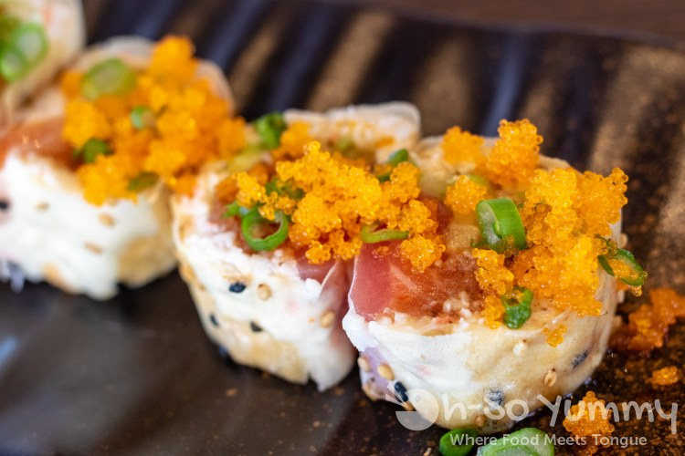 Sunset Roll at Little Sakana in Mira Mesa mall