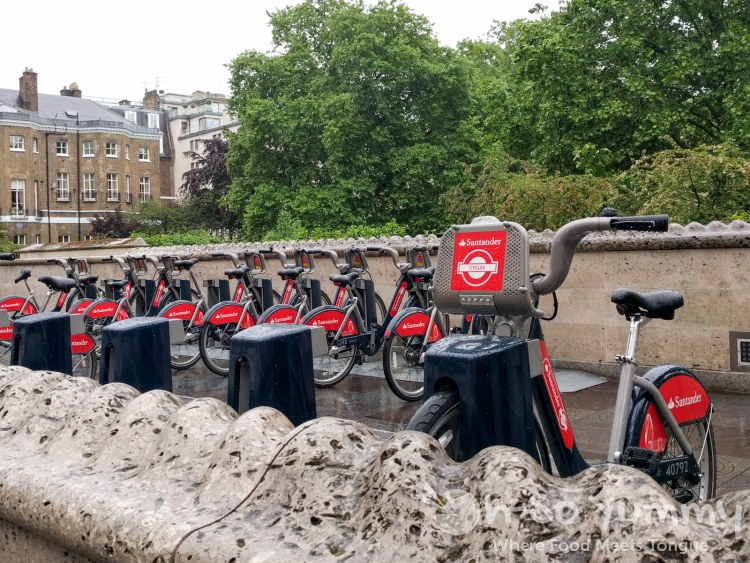Santander bike rentals in London UK