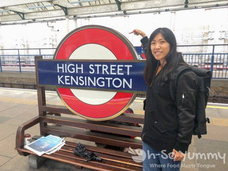 High Street Kensington station in London UK