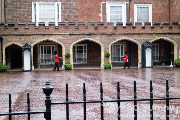 palace guards at James House in London UK