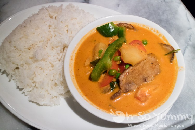 panang curry at Churchill Arms in London UK