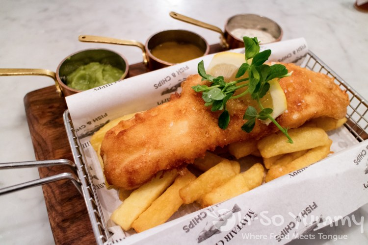 Mayfair Classic fish and chips at Mayfair Chippy in London UK