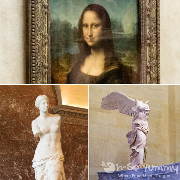 mona lisa venus winged victory at The Louvre Museum in Paris France