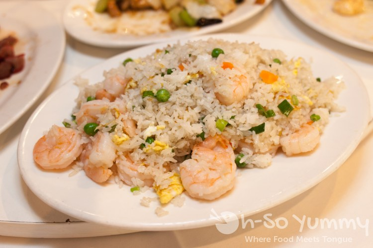 shrimp fried rice at Ly's Garden in San Diego