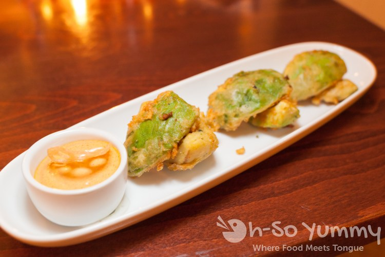 Lemon Thyme Scented Avocado Fritters at the Marine Room in La Jolla