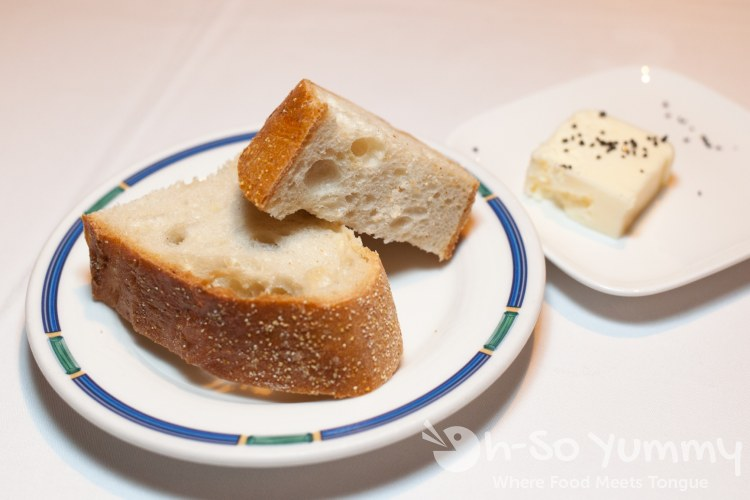 Bread and Butter at the Marine Room in La Jolla