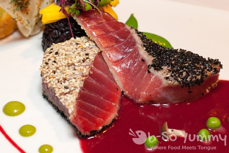 Togarashi Sesame Crusted Ahi Tuna at the Marine Room in La Jolla