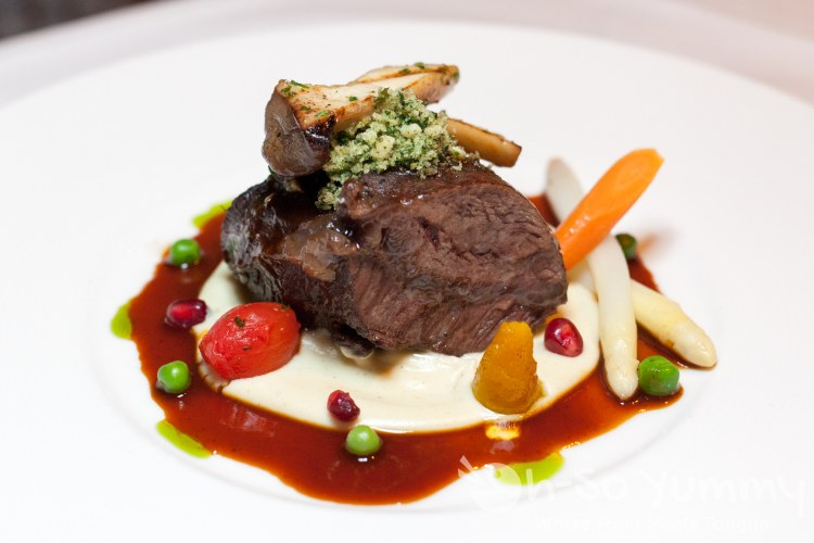 Robin's Red Ale Braised Beef Cheeks at the Marine Room in La Jolla