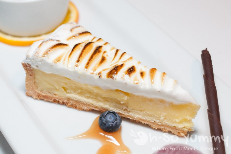 Classic Lemon Meringue Tart at the Marine Room in La Jolla