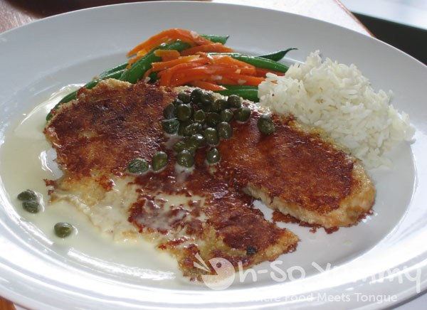 McCormick and Schmick's Parmesan Crusted Tilapia with Lemon Butter and Capers