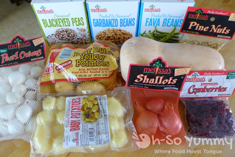Melissa's Produce Challenge box of ingredients | Oh-So Yummy