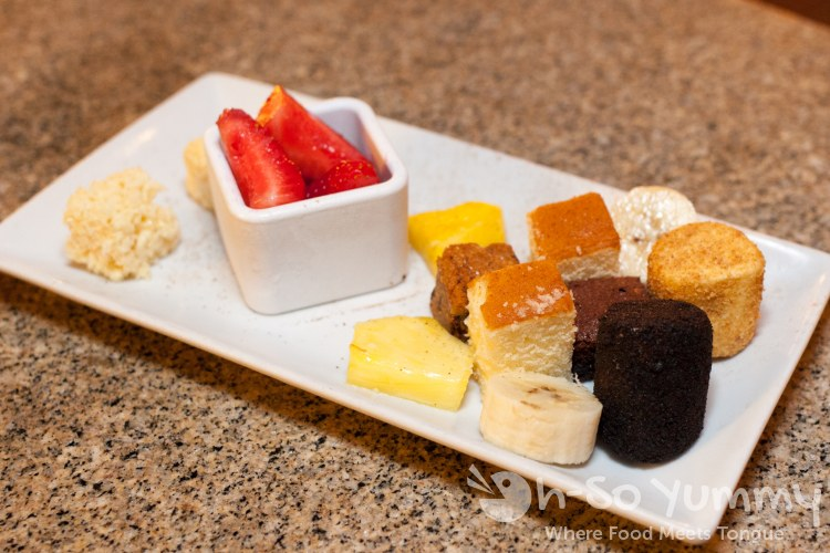 chocolate fondue sides at The Melting Pot of San Diego - La Jolla