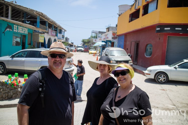 A Gringo in Mexico, Joann of Cardamon Cafe and Baron's BBQ Beat at the fishing village of Popotla, B.C., Mexico