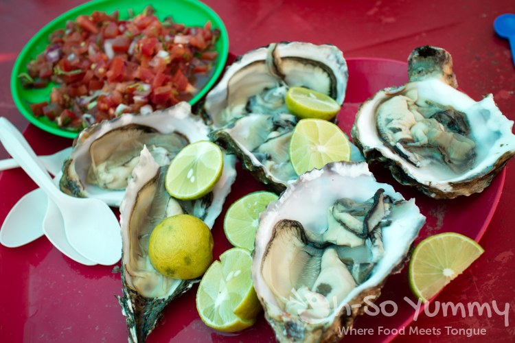 oysters from Mariscos Reyna at the fishing village of Popotla, B.C., Mexico