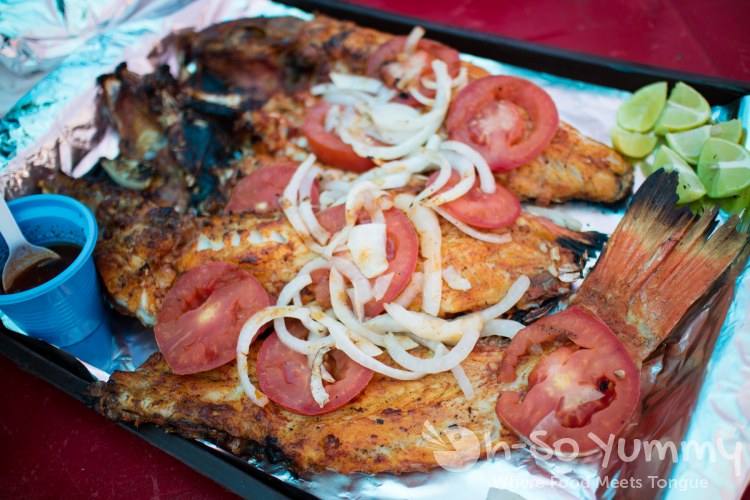 grilled fish from Mariscos Reyna at the fishing village of Popotla, B.C., Mexico