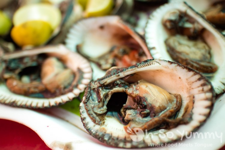 clams from Mariscos Reyna at the fishing village of Popotla, B.C., Mexico