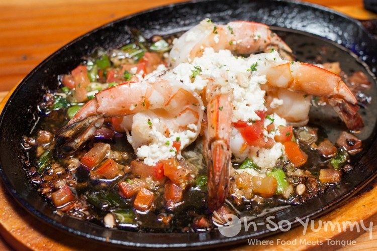 Shrimp and Ouzo Saganaki at Meze Greek Fusion in San Diego