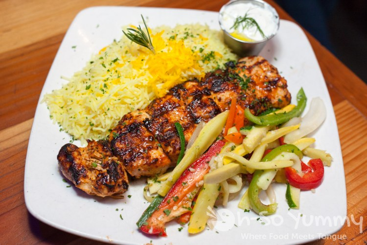 Chicken Souvlaki (skewers) at Meze Greek Fusion in San Diego