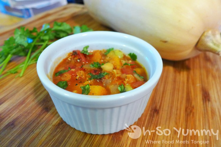 Moroccan Spiced Lentil Soup with Butternut Squash, Garbanzo and Fava Beans | Oh-So Yummy