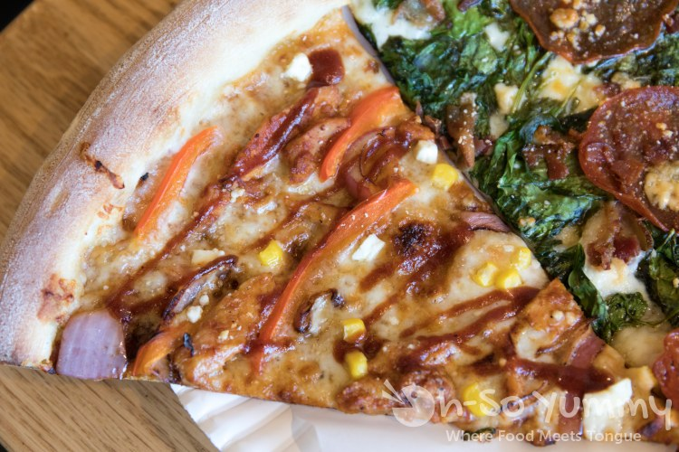 BBQ Chicken Roasted Corn slice at Mr Moto Pizza in Point Loma