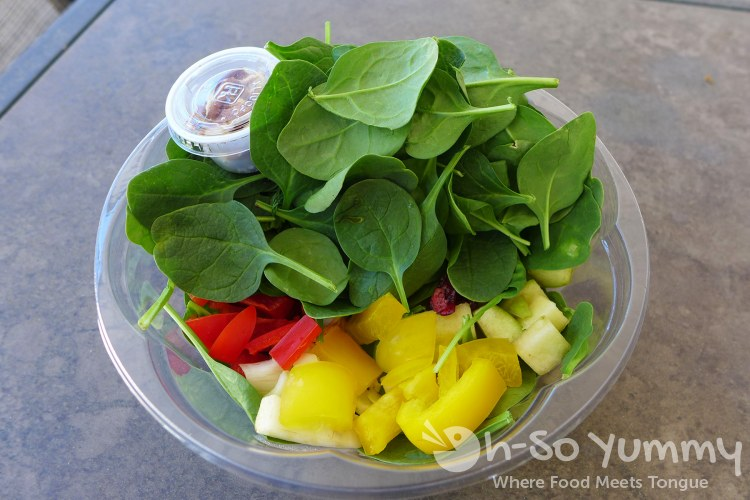 autumn baby spinach salad from Farmer's Fix