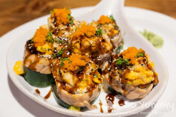 Scallop Dynamite Roll at Nozomi Sushi