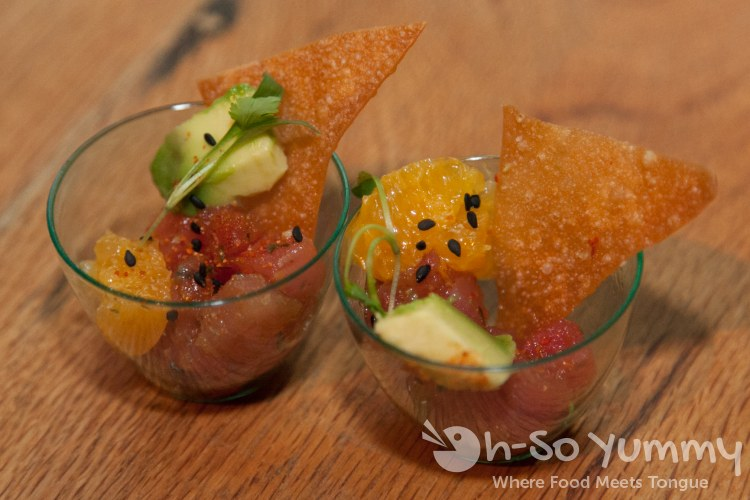 Ahi Tartare at OB Warehouse in San Diego, CA
