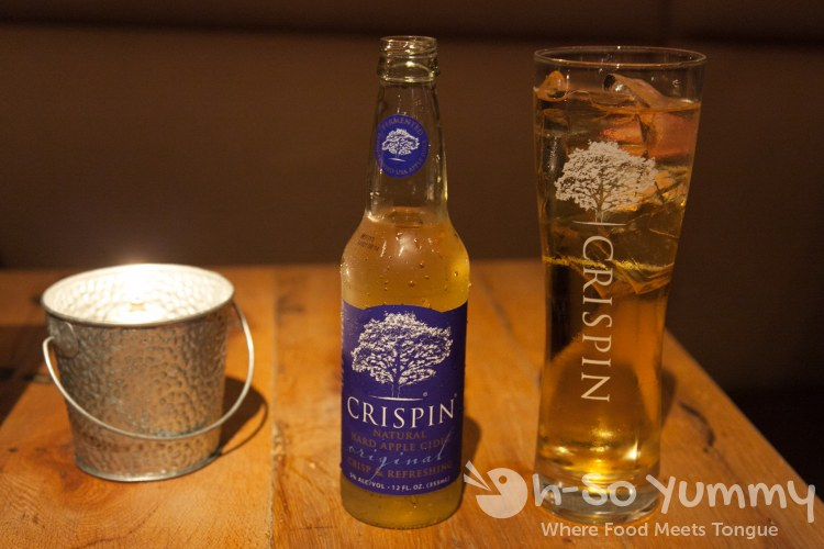 Crispin American Craft Cider in the bottle or on tap