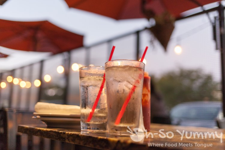 drinks and umbrellas at Oscar Wilde in San Diego