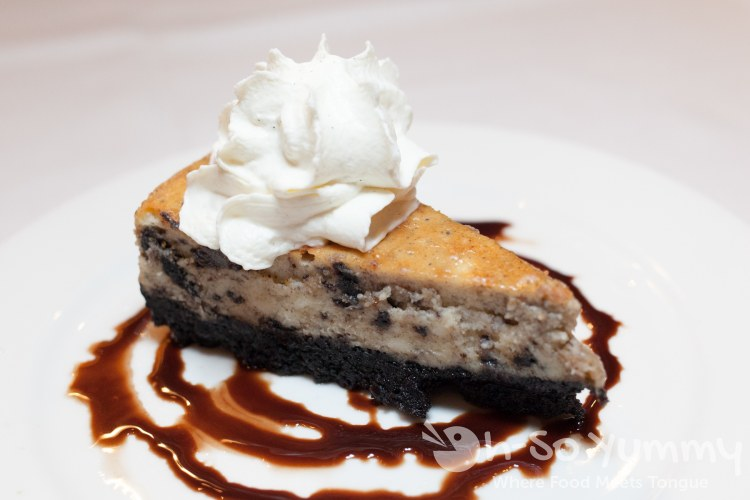 Oreo cheesecake at Pacifica Del Mar seafood restaurant
