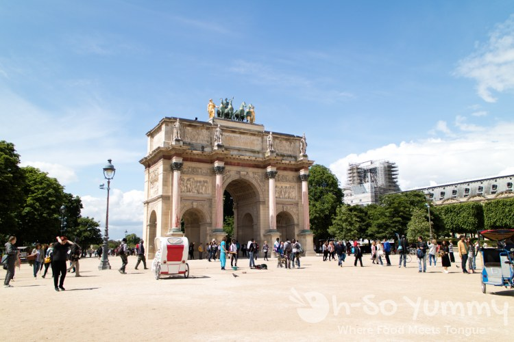 Arc de Triomphe du Carrousel in Paris France