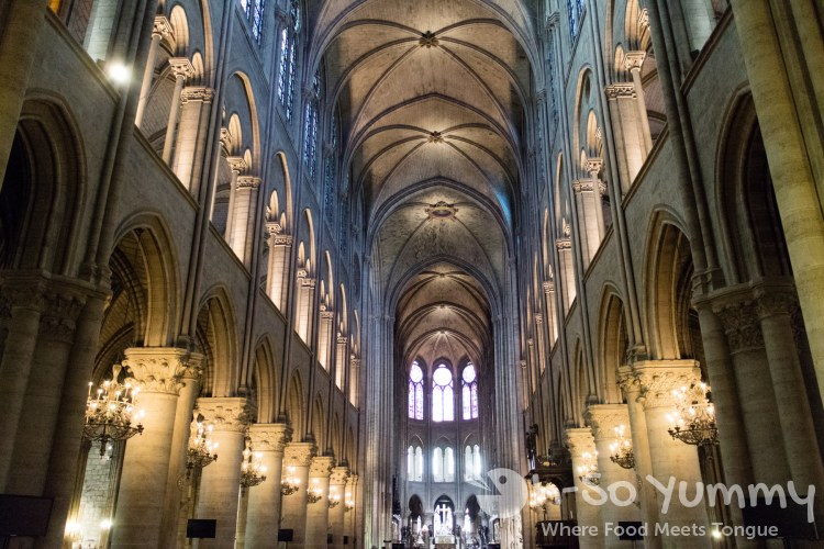 inside the Notre Dame in Paris France