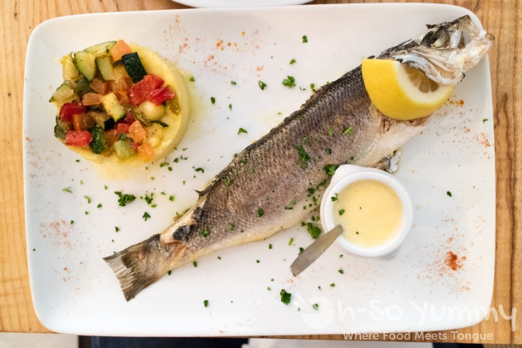 fish at Le Bistrot Des Campagnes in Paris France