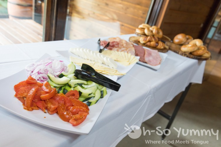 Build your own bagel sandwich for brunch at Park 101 in Carlsbad CA