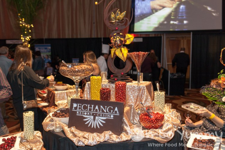 chocolate candy station at pechanga chocolate decadence
