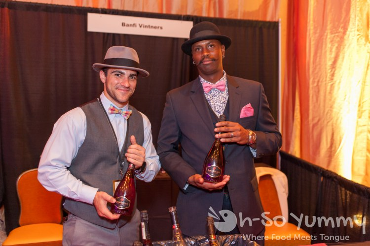 dashing gentlemen with wine at pechanga chocolate decadence