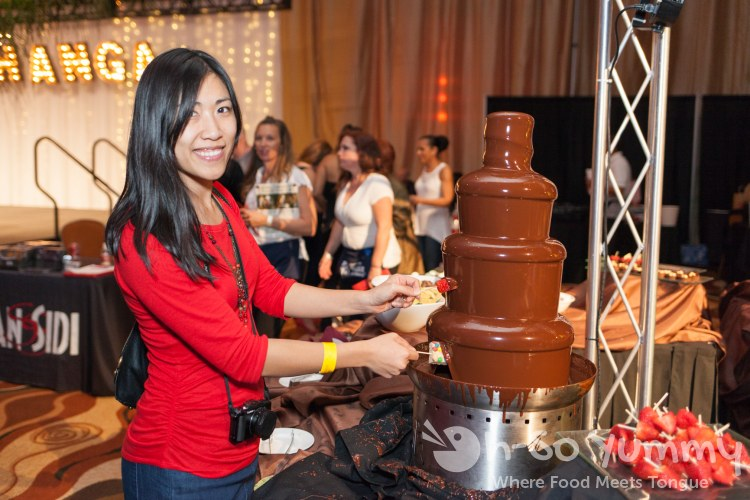 chocolate fountain fun at pechanga chocolate decadence