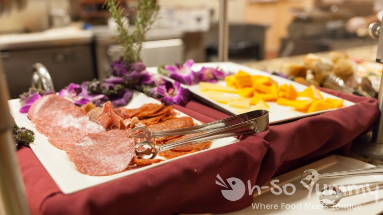 meats and cheeses at Lobster Seafood Buffet at Pechanga Resort and Casino in Temecula