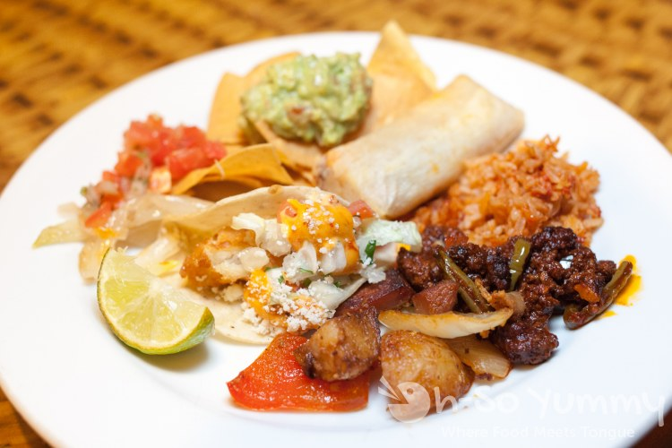 mexican food at lobster seafood buffet at Pechanga Resort and Casino in Temecula
