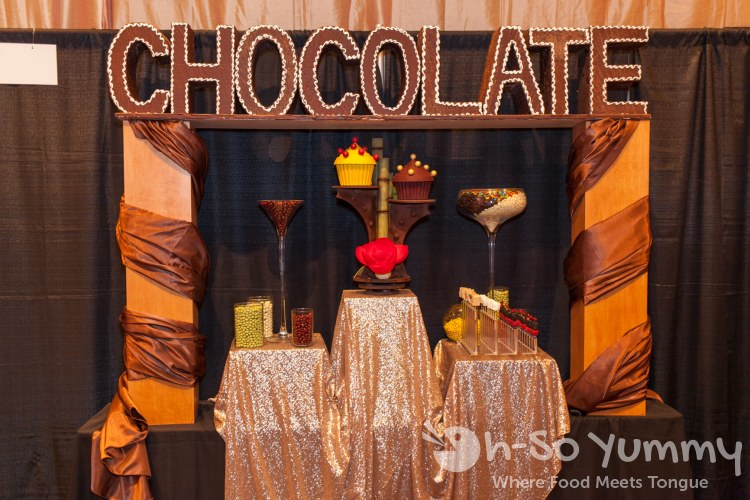 chocolate display at Pechanga Wine Festival