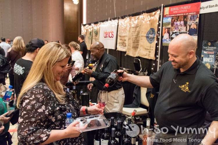 friendly wine representatives at the 10th annual wine festival at pechanga
